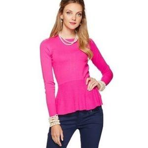 LILLY PULITZER Soft knit Peplum Sweater